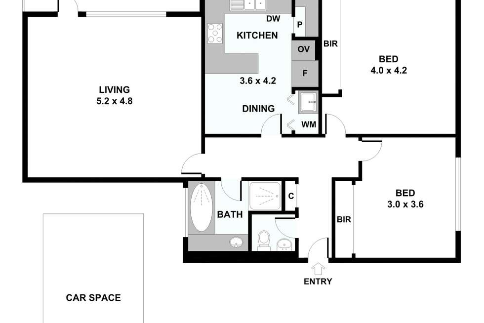 Floorplan of Homely apartment listing, 34/495 Royal Parade, Parkville VIC 3052