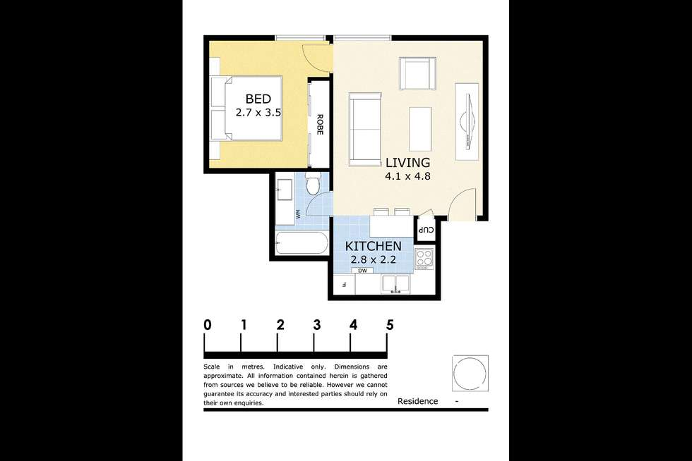 Floorplan of Homely apartment listing, 1007/318 Little Lonsdale  Street, Melbourne VIC 3000