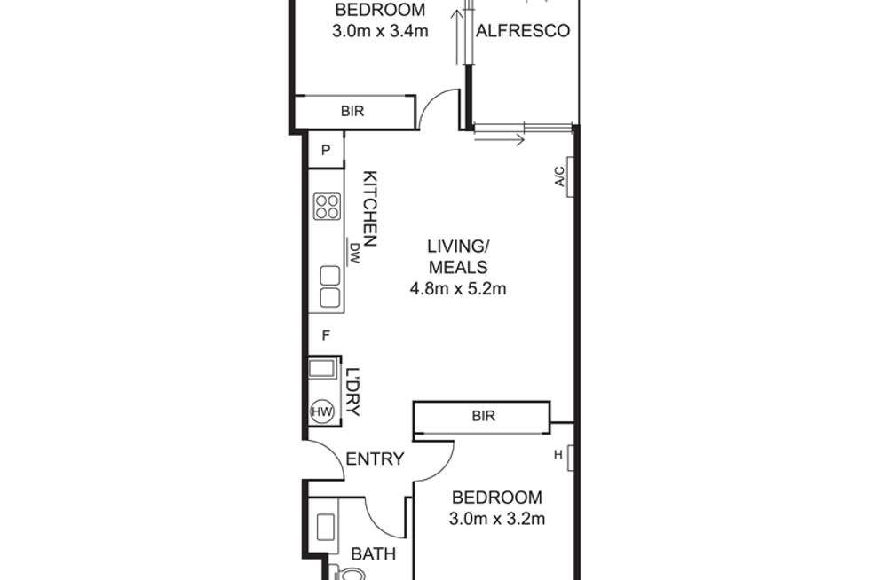 Floorplan of Homely apartment listing, 8/22-24 Warleigh Grove, Brighton VIC 3186