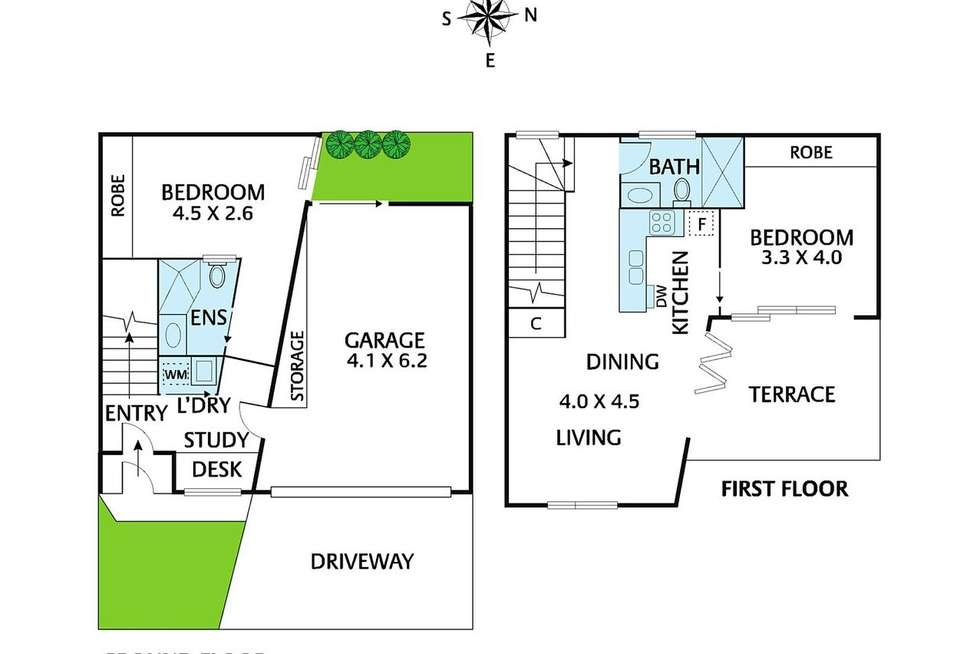 Floorplan of Homely townhouse listing, 5/111 Victoria Street, Brunswick East VIC 3057