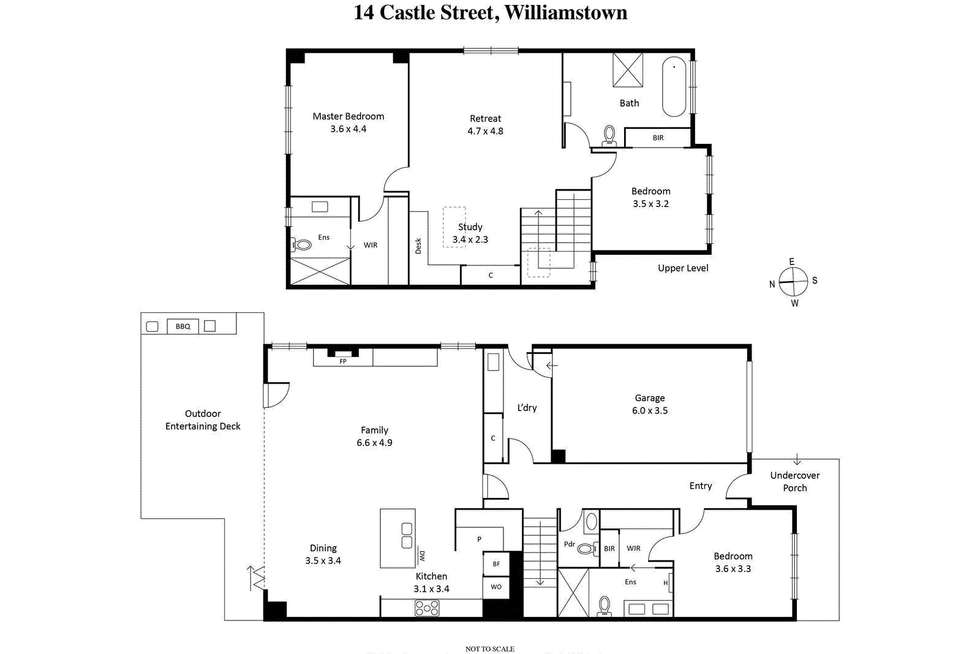 Floorplan of Homely house listing, 14 Castle Street, Williamstown VIC 3016