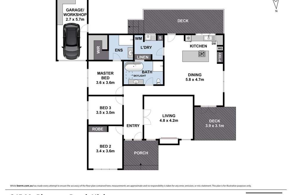 Floorplan of Homely house listing, 245 Mt Pleasant Road, Highton VIC 3216