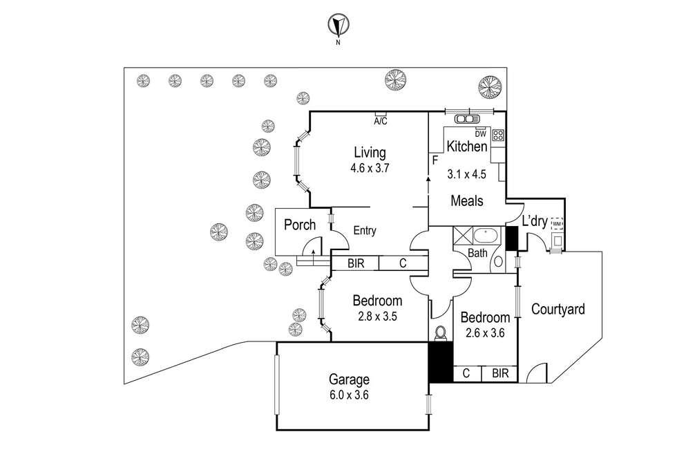 Floorplan of Homely unit listing, 1/41 Belmont Road, Ivanhoe VIC 3079