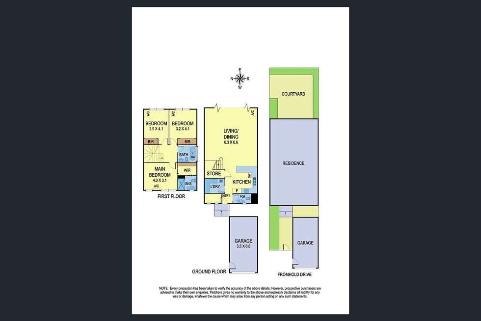 Floorplan of Homely unit listing, 5/30 Fromhold Drive, Doncaster VIC 3108