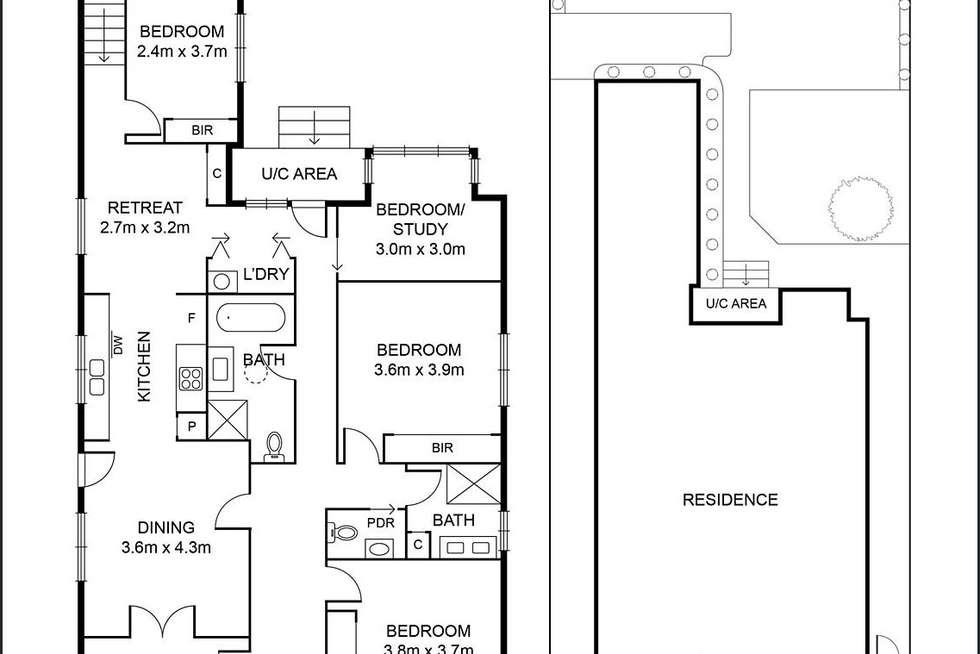 Floorplan of Homely house listing, 168 Gilbert Road, Preston VIC 3072