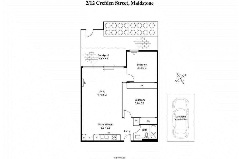 Floorplan of Homely unit listing, 2/12 Crefden Street, Maidstone VIC 3012