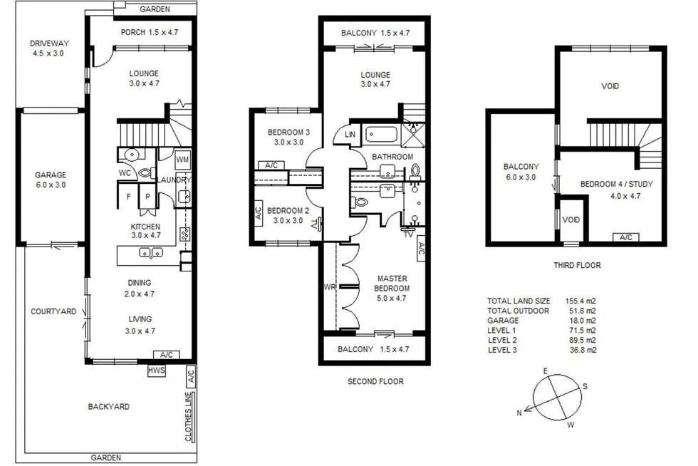 Floorplan of Homely house listing, 13 Heriot Place, Williamstown VIC 3016