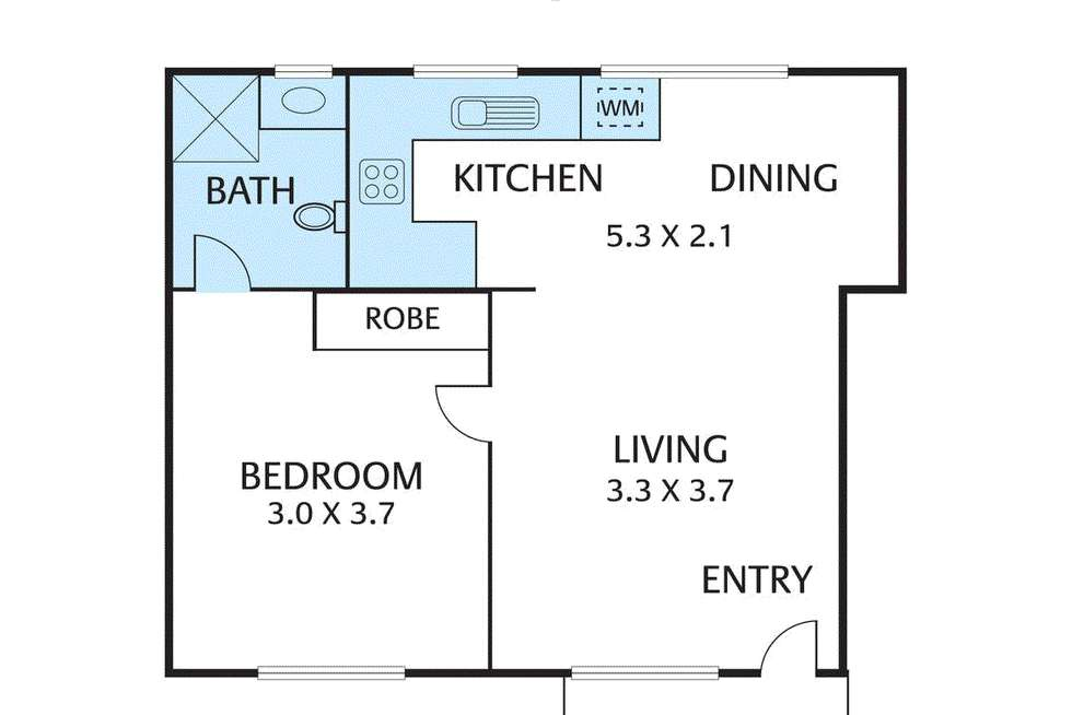 Floorplan of Homely apartment listing, 5/319 Riversdale Road, Hawthorn East VIC 3123