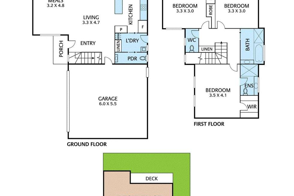 Floorplan of Homely townhouse listing, 4/1158 Main Road, Eltham VIC 3095