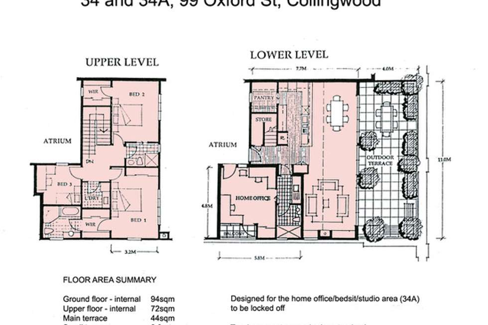 Floorplan of Homely apartment listing, 34/99 Oxford Street, Collingwood VIC 3066