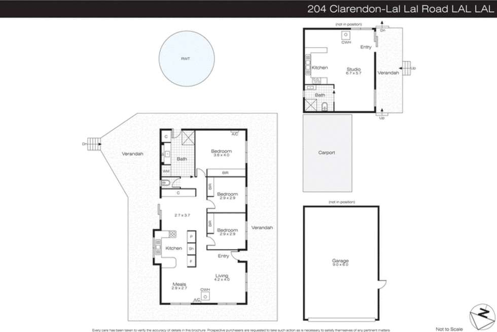 Floorplan of Homely house listing, 204 Clarendon-Lal Lal Road, Lal Lal VIC 3352