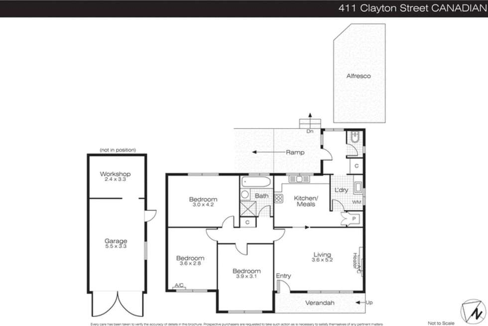 Floorplan of Homely house listing, 411 Clayton Street, Canadian VIC 3350