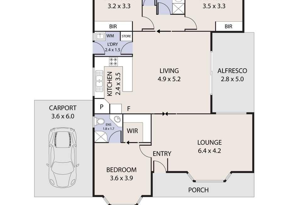 Floorplan of Homely house listing, 23 Reid Parade, Hastings VIC 3915