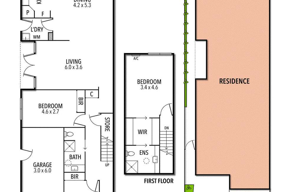 Floorplan of Homely house listing, 16 Anton Grove, Flemington VIC 3031