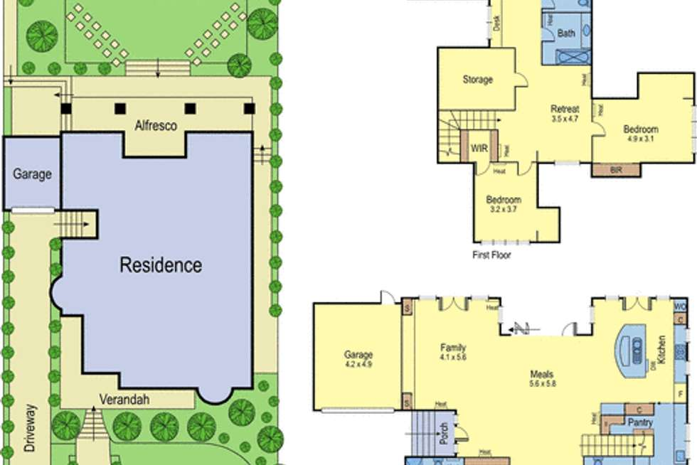 Floorplan of Homely house listing, 6 Fairy Street, Ivanhoe VIC 3079