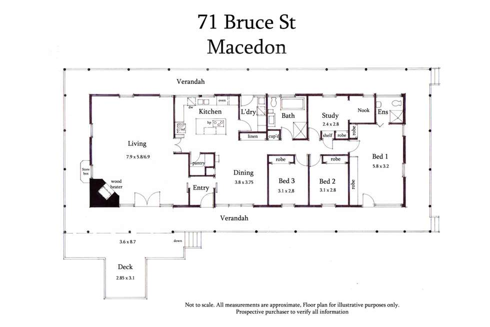 Floorplan of Homely house listing, 71 Bruce Street, Macedon VIC 3440