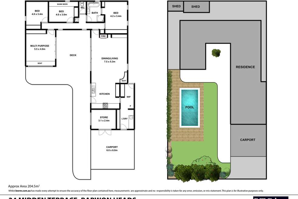 Floorplan of Homely house listing, 34 Midden Terrace, Barwon Heads VIC 3227
