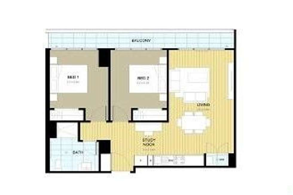 Floorplan of Homely apartment listing, 518/187 Boundary Road, North Melbourne VIC 3051