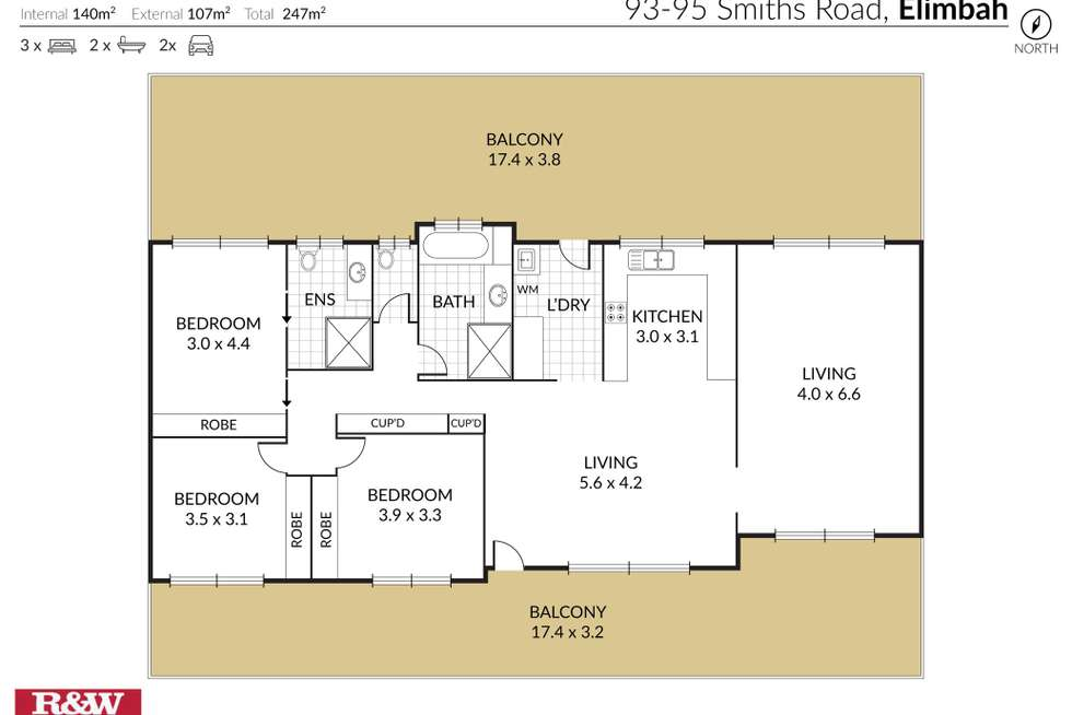 Floorplan of Homely acreageSemiRural listing, 93-95 Smiths Road, Elimbah QLD 4516