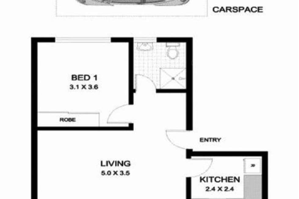 Floorplan of Homely unit listing, 13/12 Chelsea Street, Redfern NSW 2016