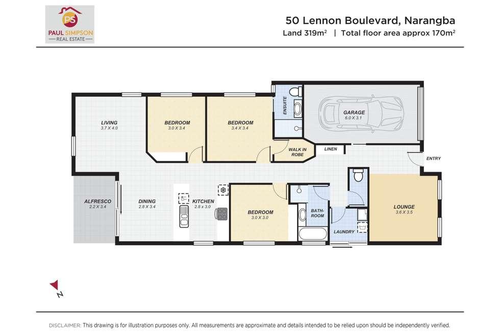 Floorplan of Homely house listing, 50 Lennon Boulevard, Narangba QLD 4504