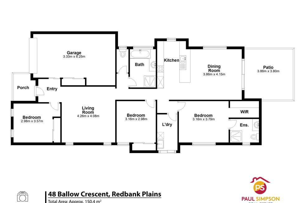 Floorplan of Homely house listing, 48 Ballow Crescent, Redbank Plains QLD 4301