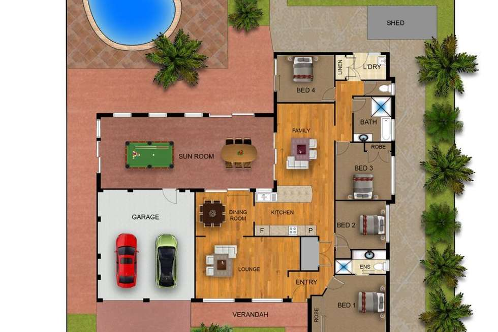 Floorplan of Homely house listing, 43 Hinchinbrook Drive, Hinchinbrook NSW 2168