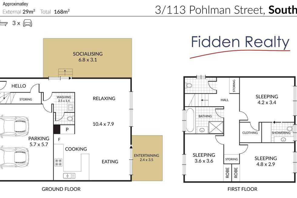 Floorplan of Homely townhouse listing, 3/113 Pohlman Street, Southport QLD 4215