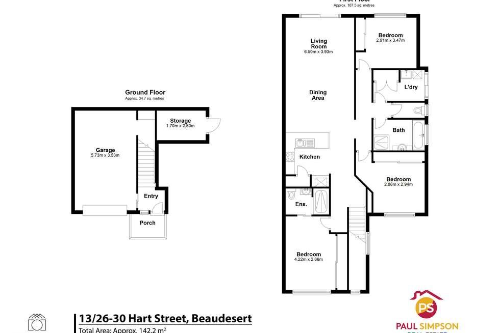 Floorplan of Homely townhouse listing, 13/26-30 Hart Street, Beaudesert QLD 4285