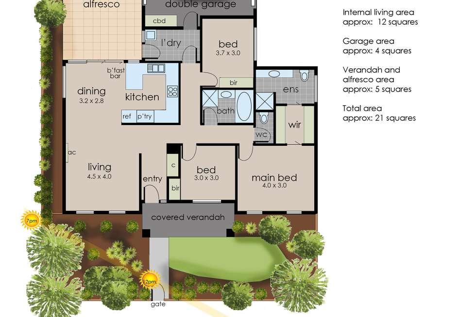 Floorplan of Homely unit listing, 1/67 Cranbourne-Frankston Road, Langwarrin VIC 3910