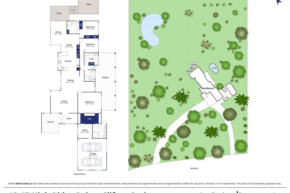Floorplan of Homely acreageSemiRural listing, 13-17 High Ridge Drive, Clifton Springs VIC 3222