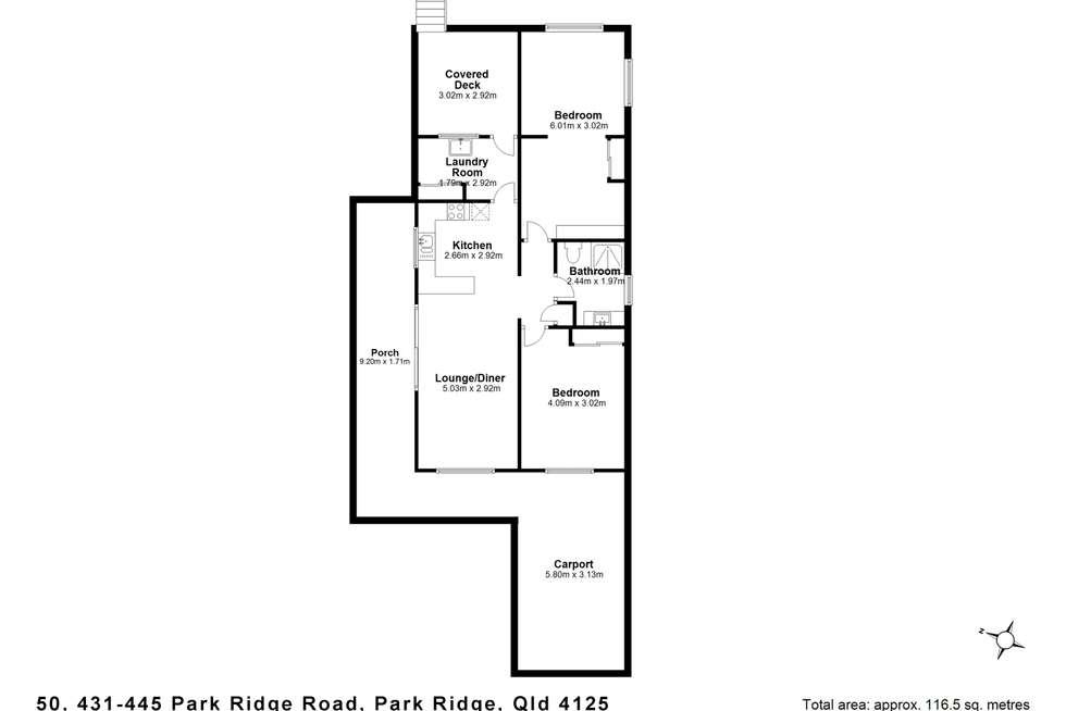 Floorplan of Homely villa listing, 50/431 Park Ridge Road, Park Ridge QLD 4125