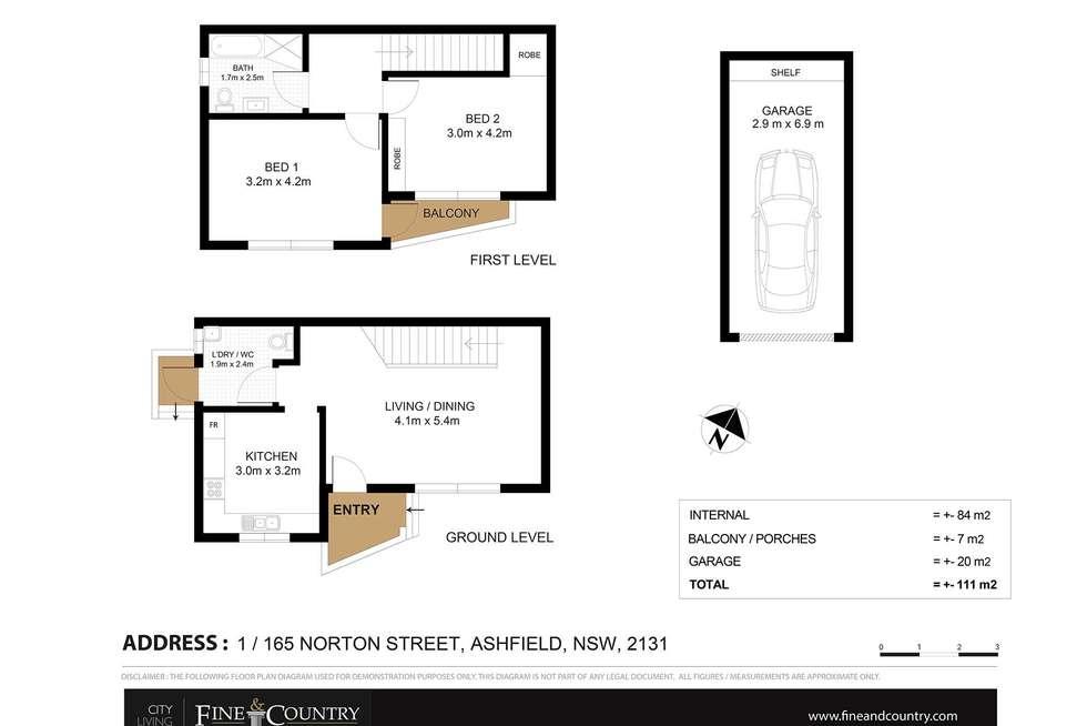 Floorplan of Homely apartment listing, 1/165 Norton Street, Ashfield NSW 2131