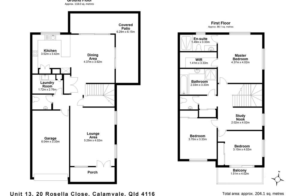 Floorplan of Homely townhouse listing, 13/20 Rosella Close, Calamvale QLD 4116