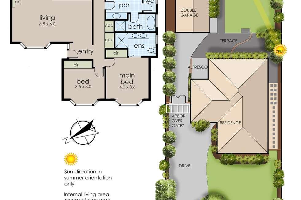 Floorplan of Homely house listing, 11 Rubida Drive, Langwarrin VIC 3910