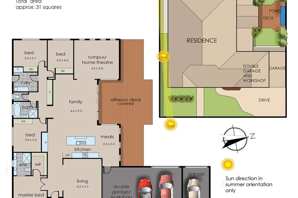 Floorplan of Homely house listing, 13 Cleopatra Drive, Cranbourne VIC 3977