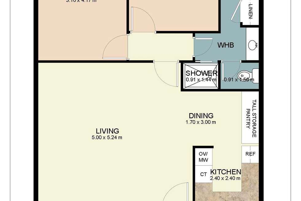 Floorplan of Homely apartment listing, 11/147 Derby Road, Shenton Park WA 6008