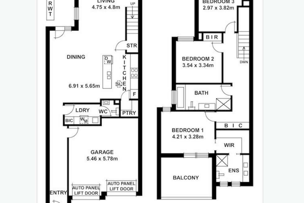Floorplan of Homely townhouse listing, 37A Barwell Avenue, Marleston SA 5033