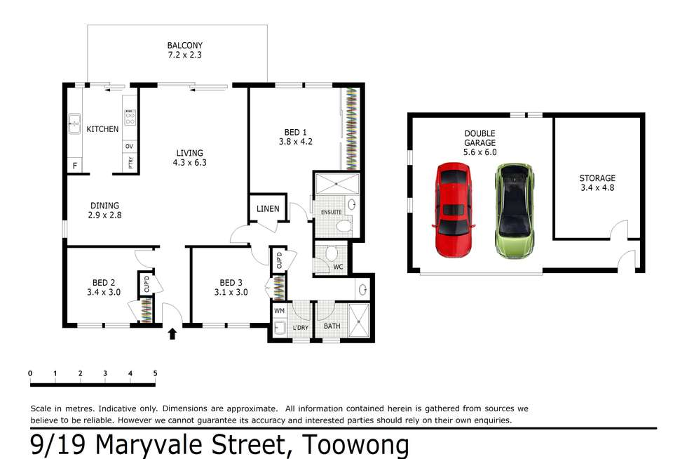 Floorplan of Homely apartment listing, 9/19 Maryvale Street, Toowong QLD 4066