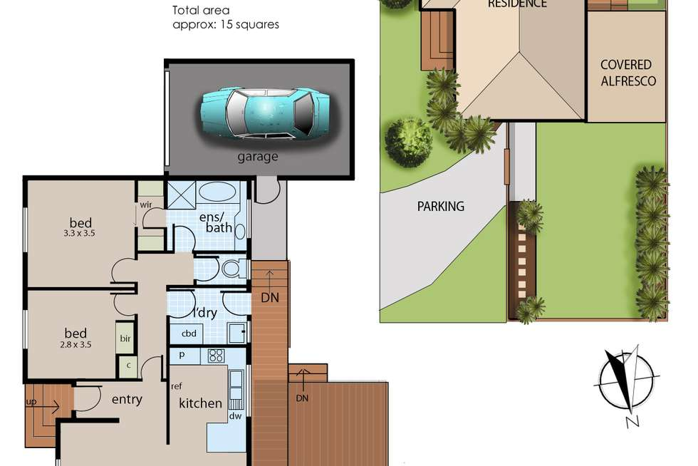 Floorplan of Homely unit listing, 1/24 Maxwell Court, Langwarrin VIC 3910
