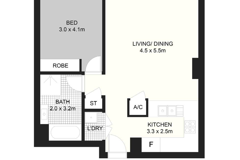Floorplan of Homely apartment listing, 266/569-581 George St, Sydney NSW 2000