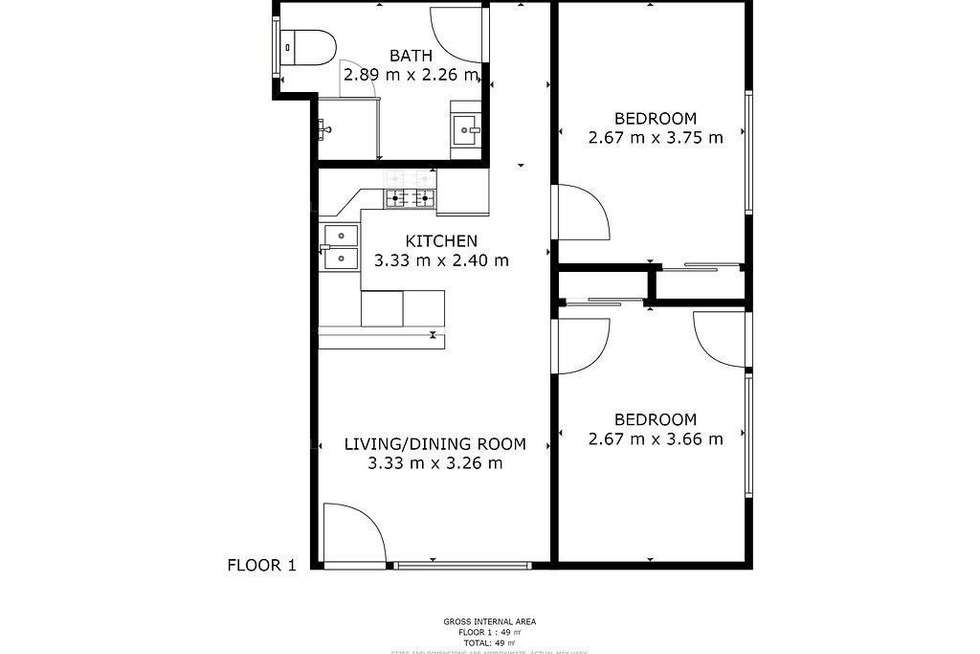 Floorplan of Homely unit listing, 5/288 Cornwall Street, Greenslopes QLD 4120
