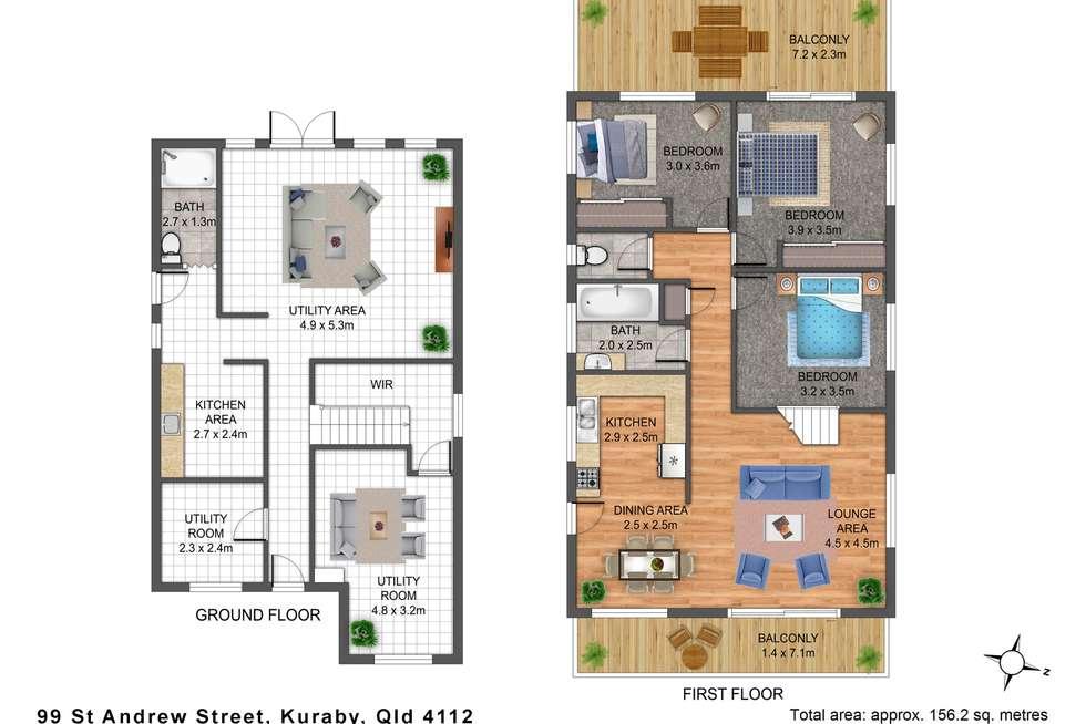 Floorplan of Homely house listing, 99 Saint Andrew Street, Kuraby QLD 4112