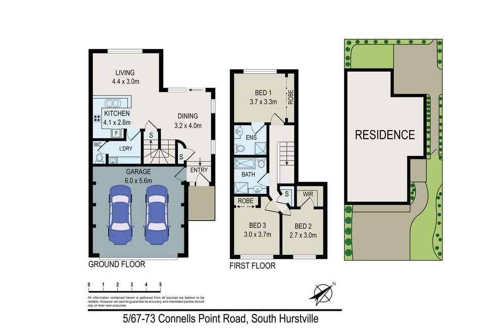 Floorplan of Homely townhouse listing, 5/67-73 Connells Point Road, South Hurstville NSW 2221