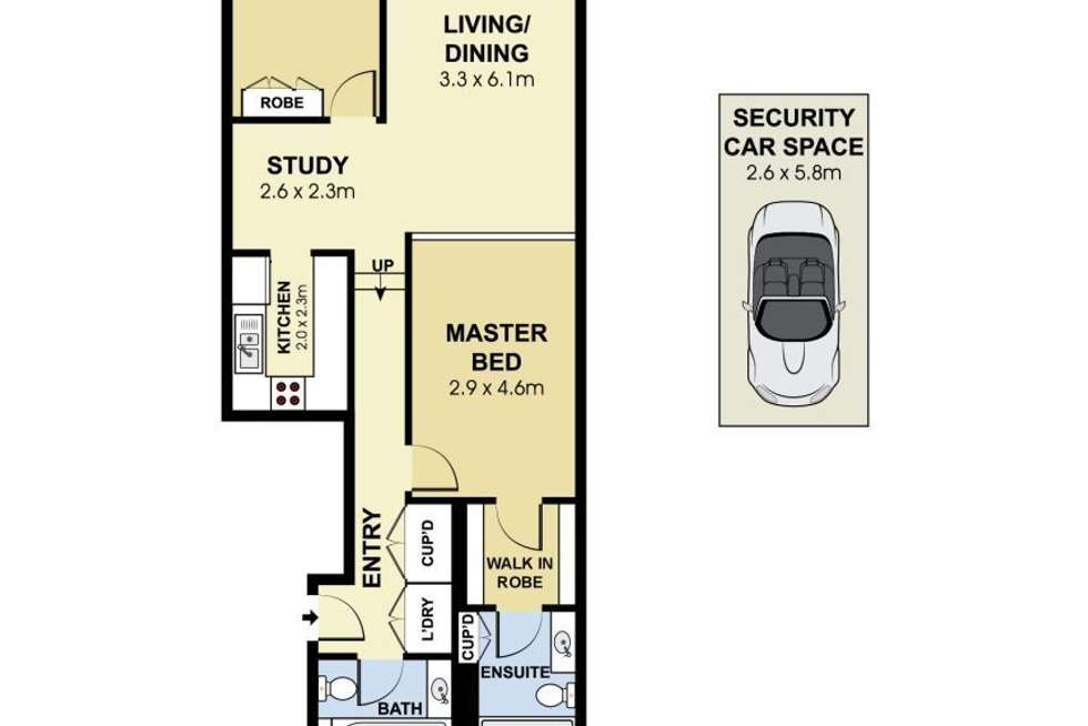 Floorplan of Homely apartment listing, 26/91 Goulburn St, Sydney NSW 2000