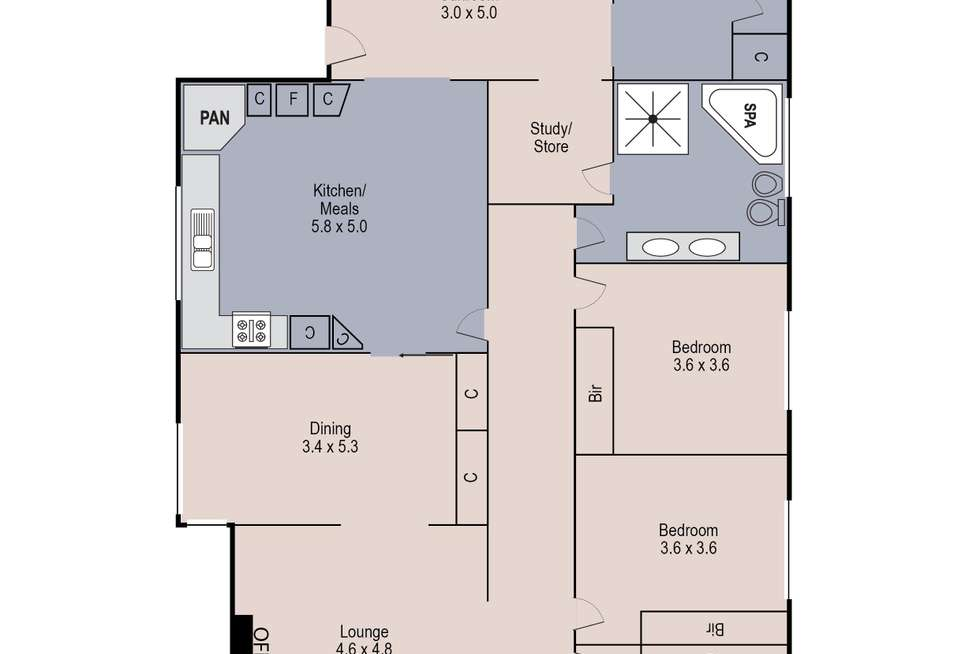 Floorplan of Homely house listing, 15 Davey Street, Sunshine West VIC 3020