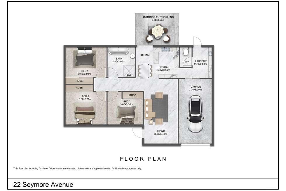 Floorplan of Homely house listing, 22 Seymore Avenue, Kalkie QLD 4670