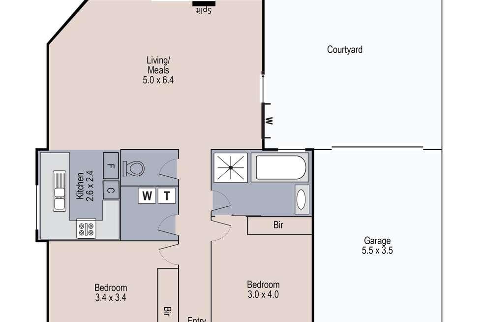 Floorplan of Homely unit listing, 1/27 Ainsworth Street, Sunshine West VIC 3020