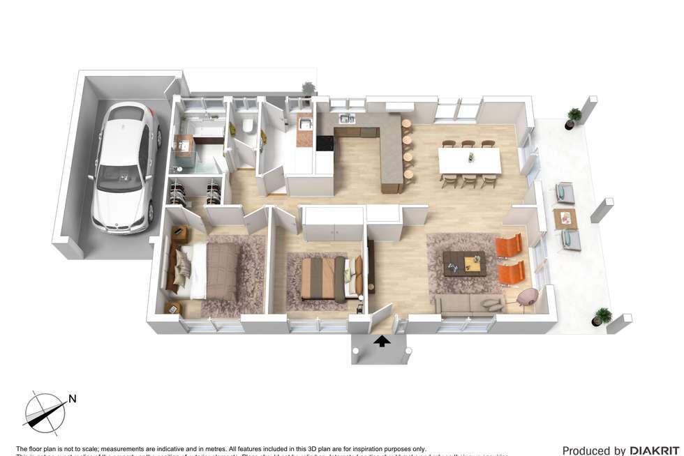 Floorplan of Homely unit listing, 2/3 Melville Avenue, Frankston VIC 3199