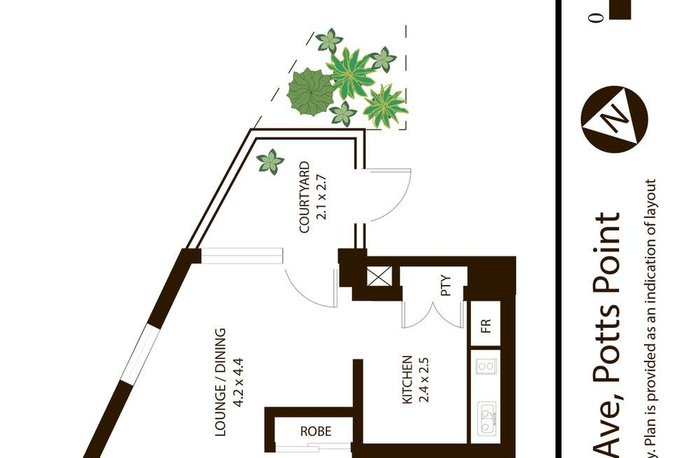 Floorplan of Homely apartment listing, 109/6-8 Ward Avenue, Potts Point NSW 2011